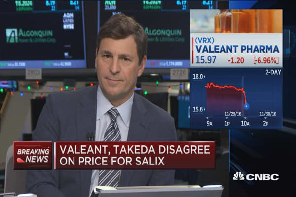 Valeant and Takeda disagree on price for Salix