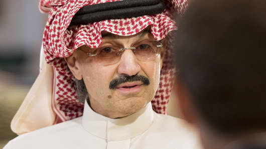 Saudi Prince Alwaleed bin Talal: very happy with Citi investment