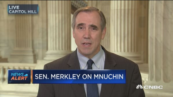If you want somebody to dismantle the protections for consumers he's just the guy to do it: Merkley