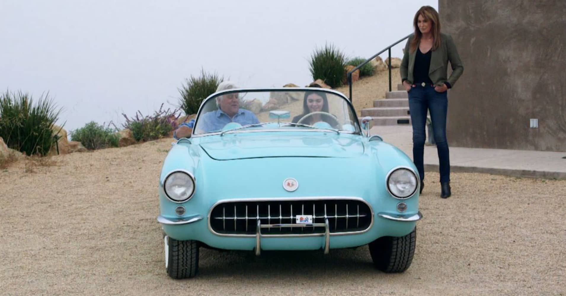 Supermodel Kendall Jenner takes Jay Leno for a spin in her \'56 ...