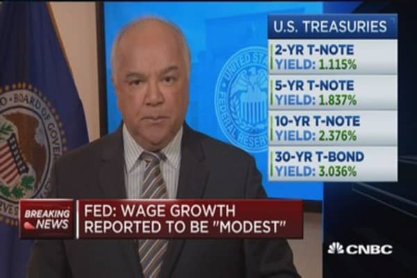 Beige Book: Modest to moderate growth
