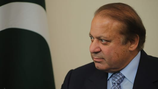 Prime Minister of Pakistan, Nawaz Sharif.