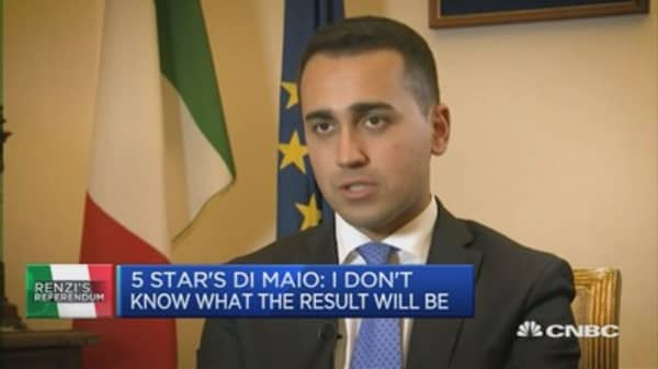 Renzi is absolutely unreliable: 5 Star's Di Maio