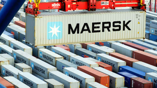 Maersk Q1 Net Profit Above Forecast Container Unit Reports Loss