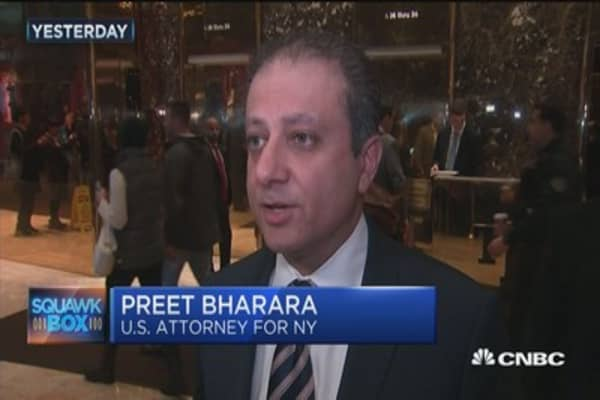 Preet Bharara asked to stay as New York US attorney general