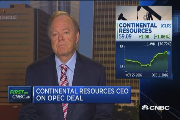 Continental Resources CEO on OPEC deal