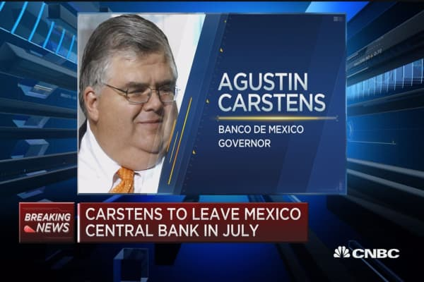 Mexican Central Bank Governor Cartens to leave