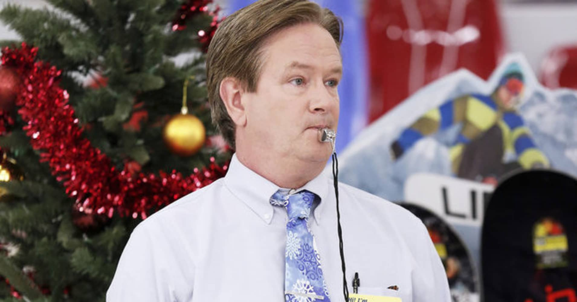 "Glenn, character on NBC's ""Superstore,"" often has to correct mistakes made by his employees, including improper communication."