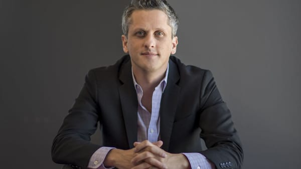 Aaron Levie, chief executive officer of Box Inc., at the company's headquarters in Redwood City, California, U.S., on Monday, Sept. 26, 2016.