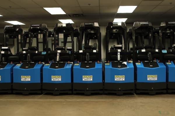 Seegrid Vision sensors drives these factory vehicles autonomously.