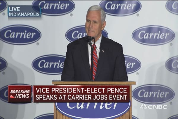 Pence: A great day for working people in the US