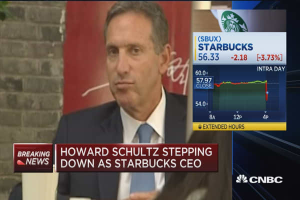 Howard Schultz stepping down as Starbucks CEO