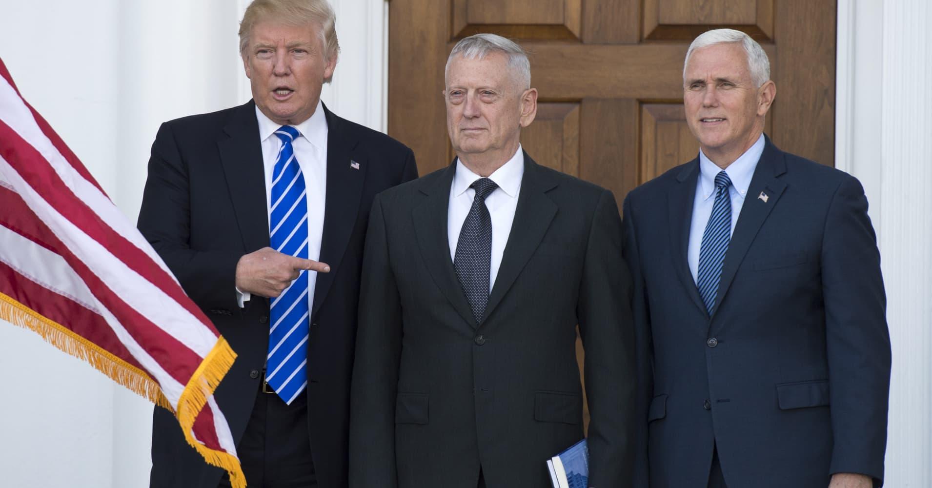 Trump picks tough talking Gen. James 'Mad Dog' Mattis as Defense Secretary