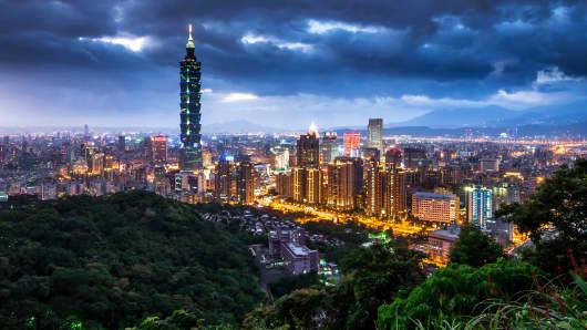 A modern metropolis: Taipei, Taiwan.
