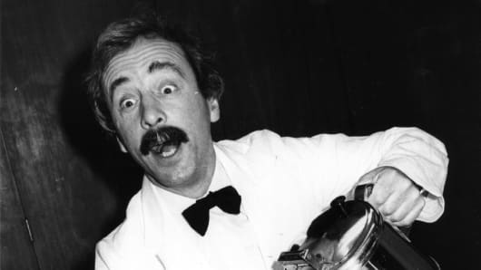 British actor Andrew Sachs, best known for his role as 'Manuel' in television's 'Fawlty Towers'.