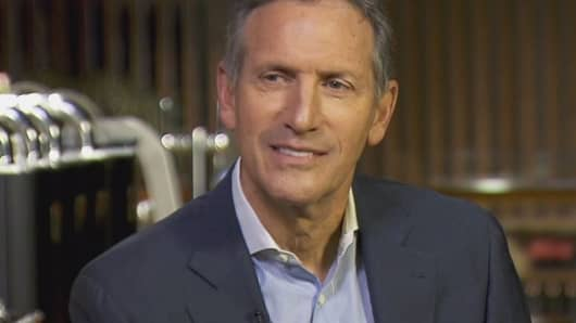 Howard Schultz of Starbucks on CNBC's Squawk Box, December 2, 2016.