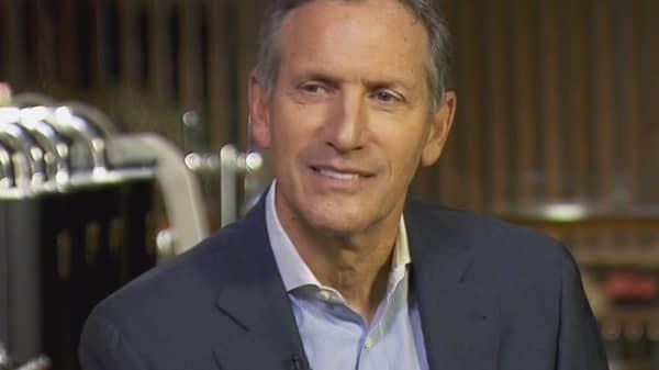 Howard Schultz of Starbucks on CNBC's Squawk Box, December 2, 2016.