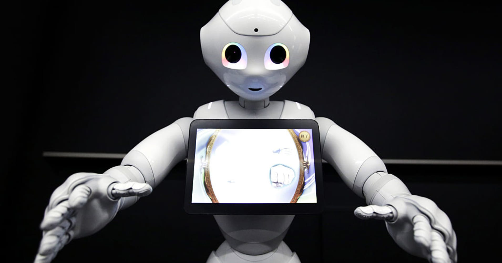 Pepper, the humanoid robot.