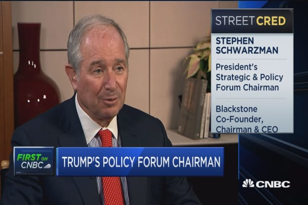 Schwarzman: No issues of partisanship in choices