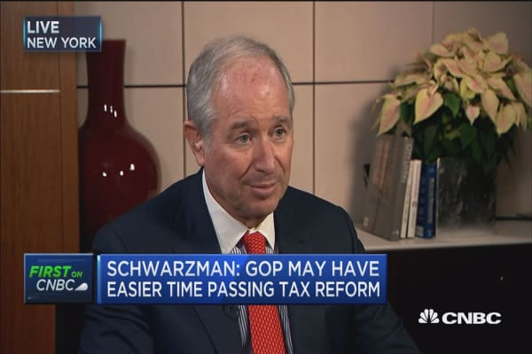 Schwarzman: GOP may have easier time passing tax reform