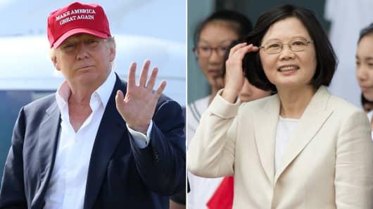 President-elect Donald Trump and Taiwan President Tsai Ing-wen.