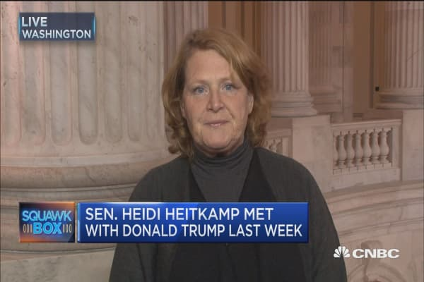 Sen. Heitkamp: We spent a lot of time talking about  jobs