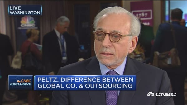 Peltz: There's a difference between global companies and outsourcing