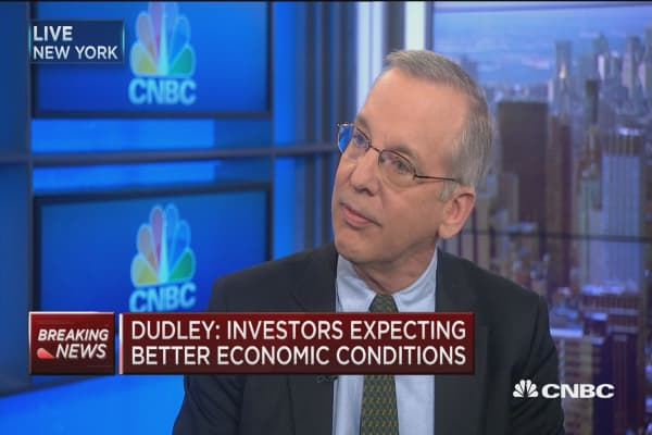 Dudley: 'Premature' to raise growth outlook