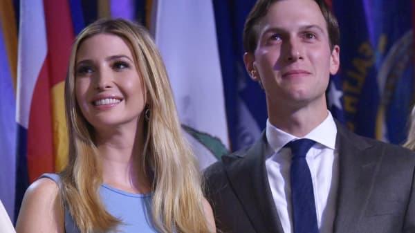 Ivanka Trump and her husband Jared Kushner