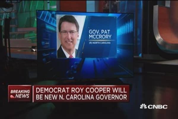 Democrat Roy Cooper will be new North Carolina governor