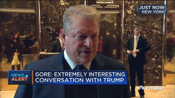 Gore: Extremely interesting conversation with Trump