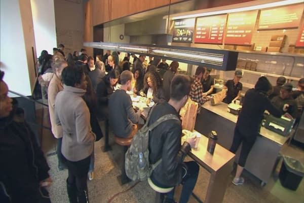 Chipotle stock slips after co-CEO comments