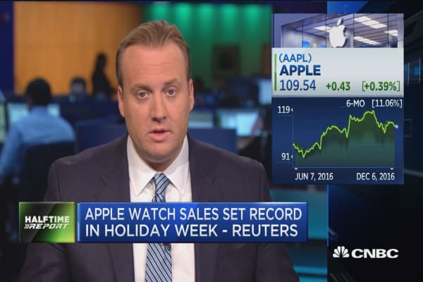 Apple watch sales set record in holiday week: Reuters