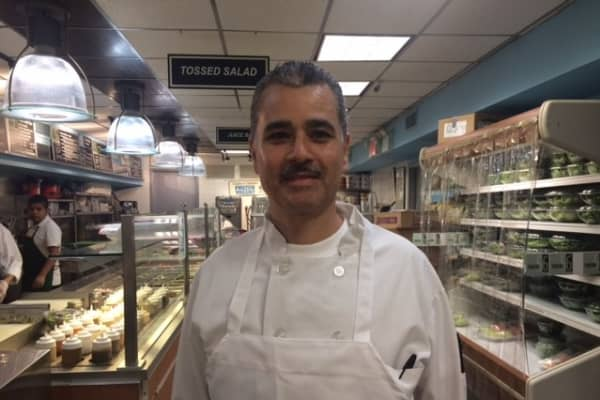 Oscar Rodriguez, chef at Printon 56, says extra foot traffic near Trump Tower has brought in new customers.