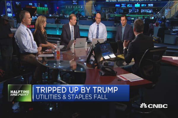 Stocks tripped up by Trump