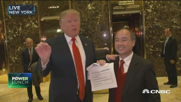 Trump: Softbank agrees to invest $50B in US