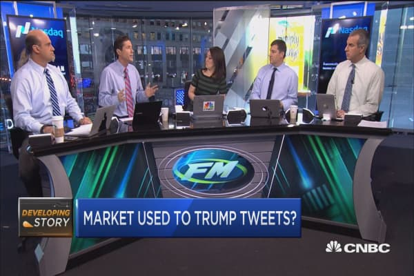 Is the market becoming immune to Trump's tweets?