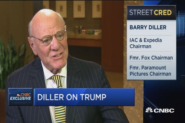 Diller on Trump: Let's see what this experiment brings