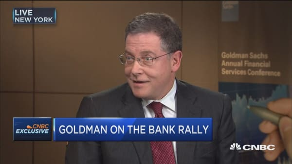 Scherr: Investors in banks are optimistic about direction of economy