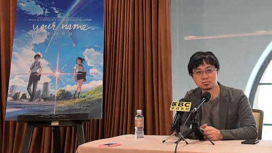 "Animator Makoto Shinkai's ""Your Name"" is taking the box office by storm in China."