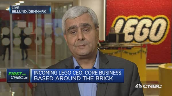 Over half of Lego sales in holiday shopping season: New CEO