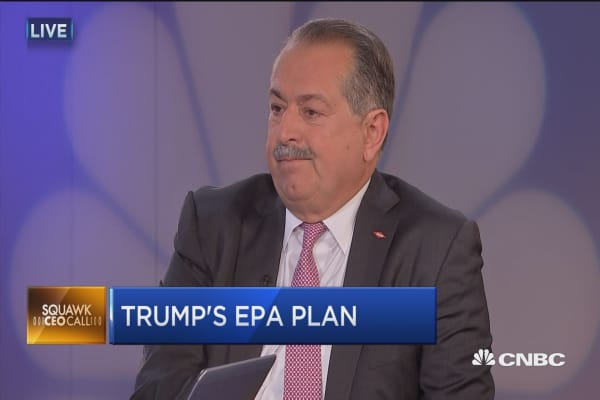 DOW CEO: Regulations in past 7 years 'burdensome'
