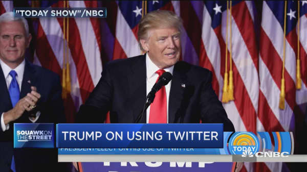 Trump on Twitter: I am very restrained