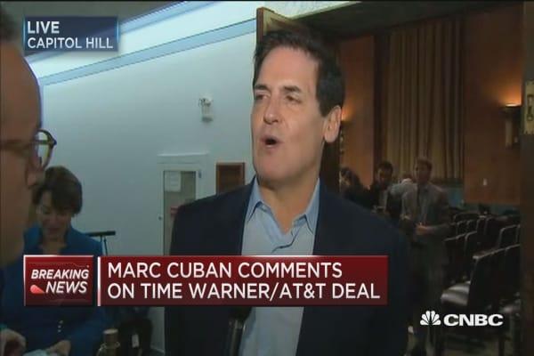 Cuban: AT&T, Time Warner currently at disadvantage