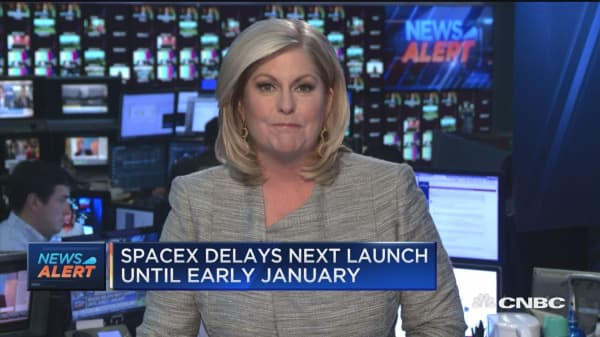 SpaceX delays next launch until early January