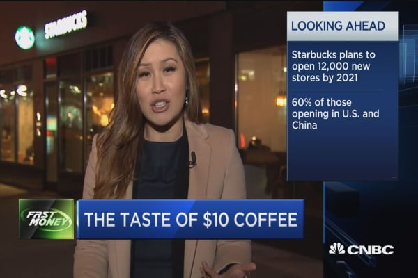 Starbucks goes upscale with $10 coffee