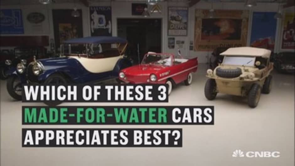 Jay Leno reveals which of these three made-for-water cars has appreciated best