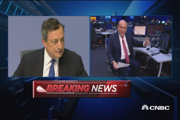 Draghi: Asset buys to increase if outlook dims