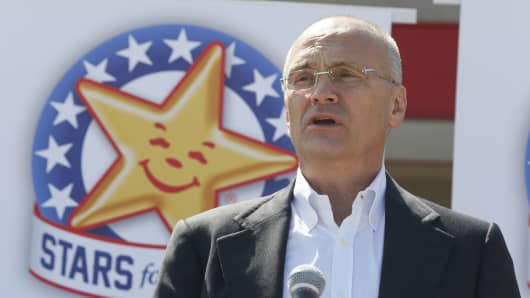 CKE Restaurants CEO Andy Puzder.