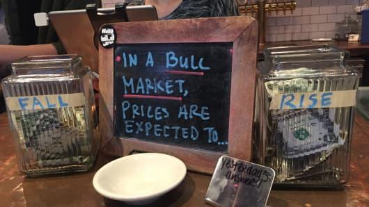 Tip jar at Birch Coffee, NYC, on Dec. 4.